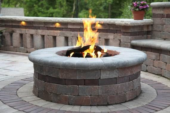 fire pit from stone