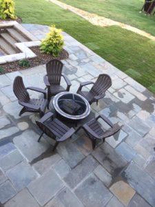 ashley patern stone patio grey